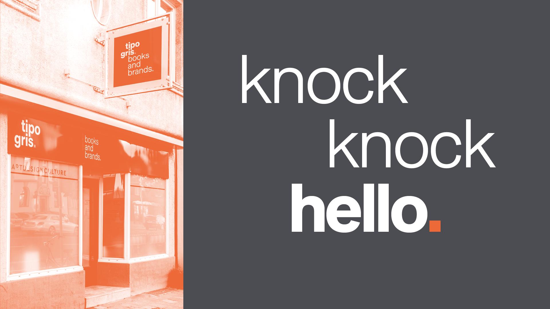 knock knock hello. tipogris.